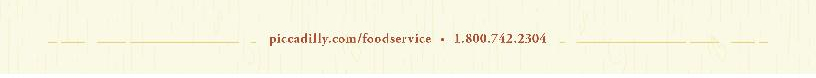 Piccadilly Food Service footer url